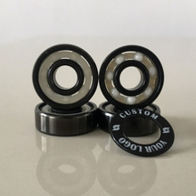 Kingsk8 Black Titanium Coating ZrO Ceramic Skateboard Bearings