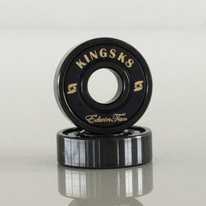 Kingsk8 Black Oxide Si3N4 Ceramic Skateboard Bearings