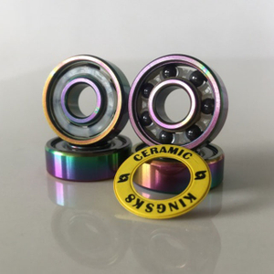 Kingsk8 Colorful Titanium Coating Si3N4 Ceramic Skateboard Bearings