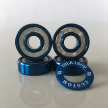 Kingsk8 Blue Anodized Coating ZrO Ceramic Skateboard Bearings