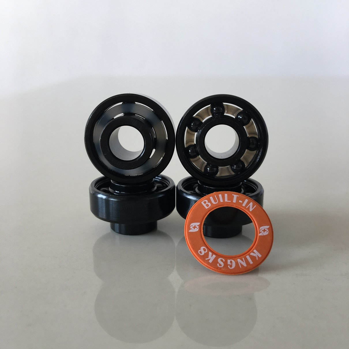 Kingsk8 Black Oxide Bulit-in Si3N4 Ceramic Skateboard Bearings