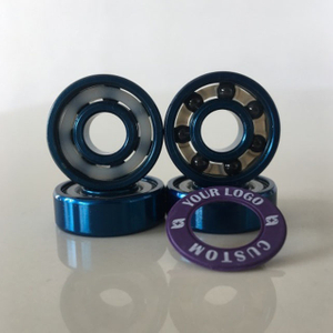 Kingsk8 Blue Anodized Si3N4 Ceramic Skateboard Bearings