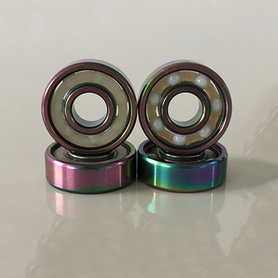 Kingsk8 Colorful Titanium ZrO Ceramic Skateboard Bearings