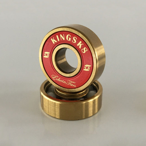 Kingsk8 Gold Titanium Coating Zro Ceramic Skateboard Bearings