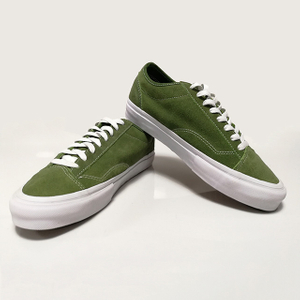 Comfortable fashion men oem green skateboard shoes