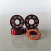 Kingsk8 Red Anodized Si3N4 Ceramic Skateboard Bearings