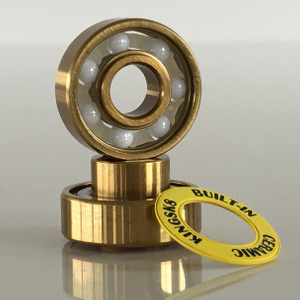 Kingsk8 Gold Titanium Coating ZrO Ceramic Built-In Longboard Bearings
