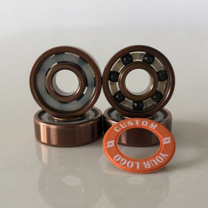 Kingsk8 Rose Gold Titanium Coating Si3N4 Ceramic Skateboard Bearings
