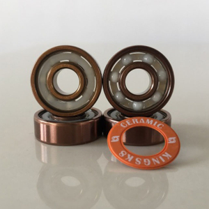 Kingsk8 Rose Gold Titanium Coating ZrO Ceramic Skateboard Bearings
